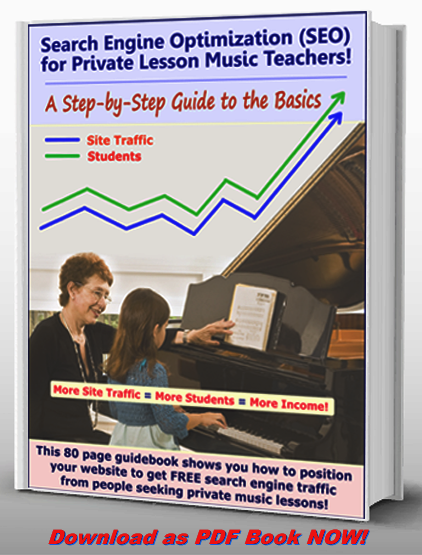 Search Engine Optimization (SEO) For Music Teachers, Tutors and Lesson Studios
